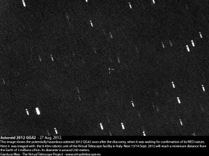 Potentially Hazardous Asteroid 2012 QG42