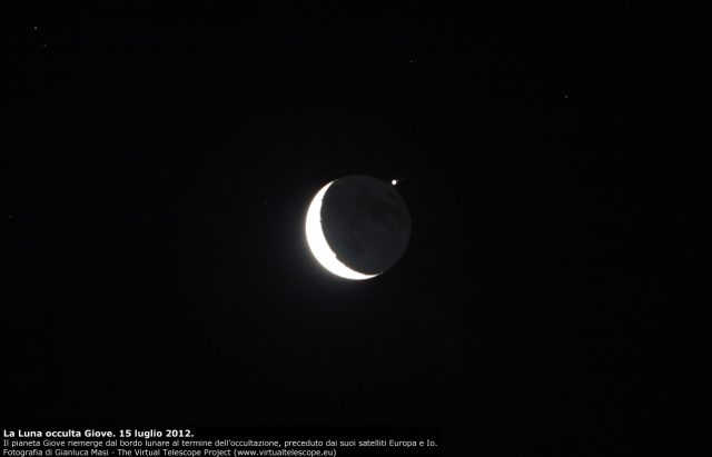 Jupiter occultation by the Moon (14 July 2012) - The Virtual