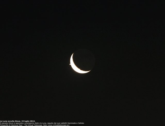 Jupiter and the Moon: the occultation begins