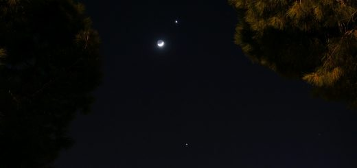 The Moon, Venus and Jupiter, 26 Mar. 2012