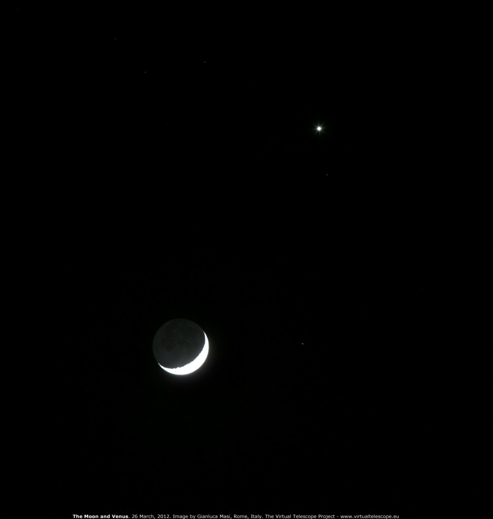 The Moon and Venus: 26 March 2012