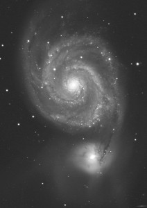 M51 remotely imaged with the PW17