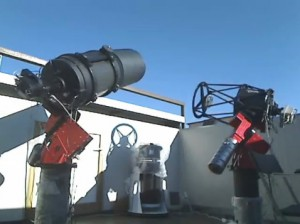 The Celestron C14 (left) and Planewave 17 (right) units.
