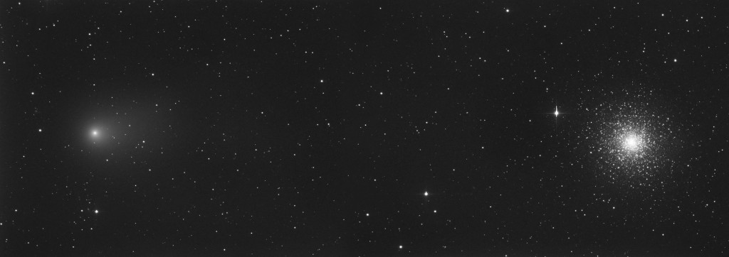 Comet C/2009 P1 (Garradd) and M15 (2011)