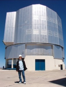 The author at the Very Large Telescope facility in Chile