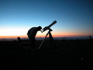 The author observing from La Silla, Chile