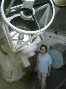 The author at Campo Catino observatory