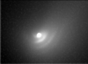 Comet Hale-Bopp dust waves imaged in 1997