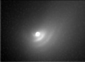 Comet Hale-Bopp dust waves imaged in 1997