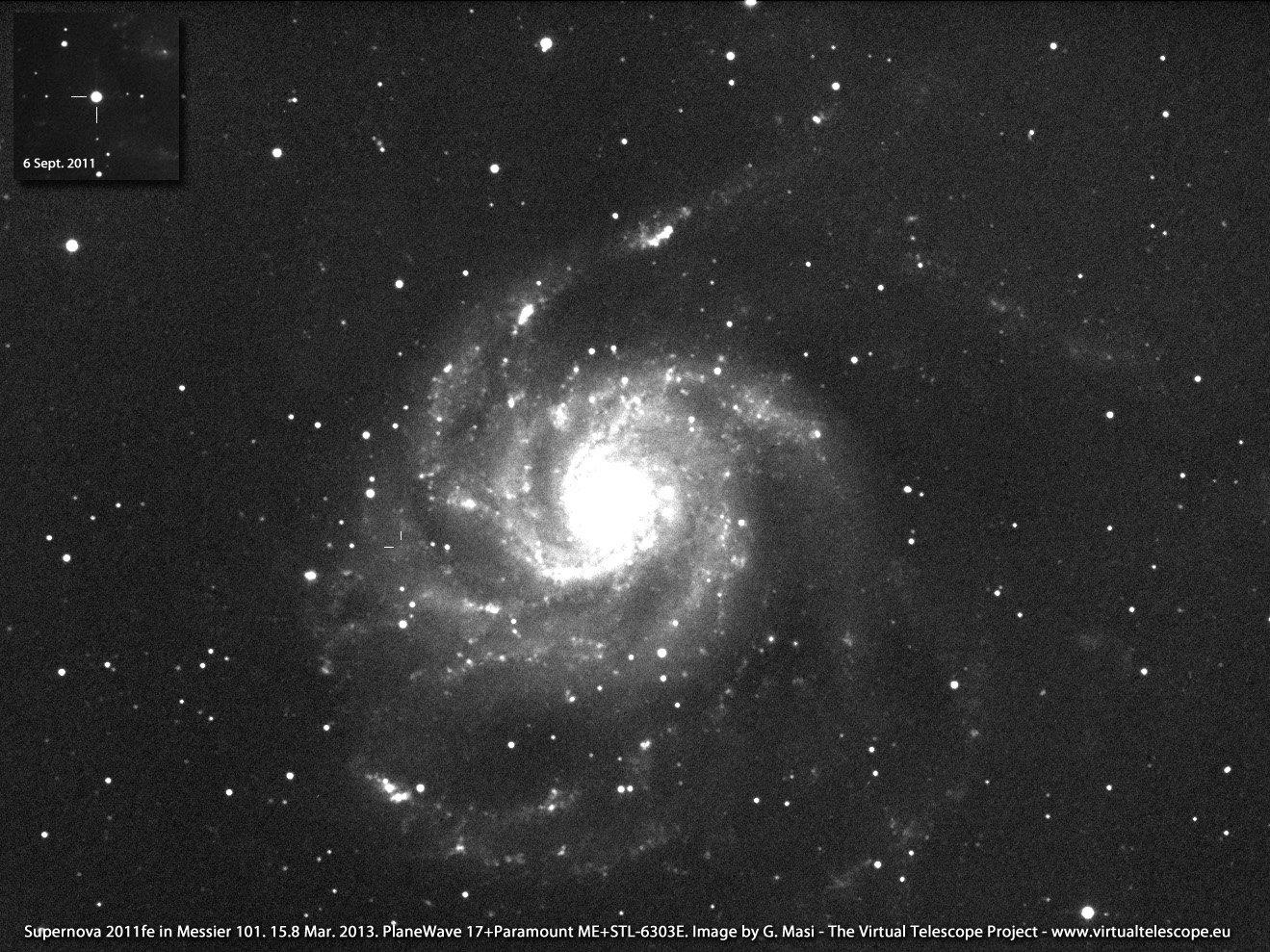 M101 and SN 2011fe, 15 Mar. 2013