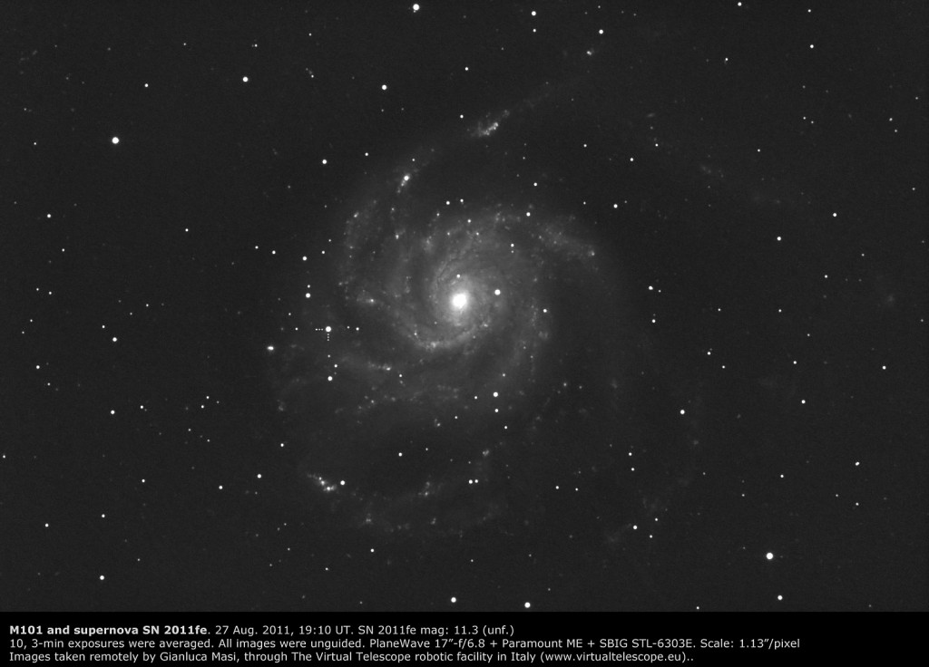 M101 and  SN 2011fe, 27 Aug. 2011