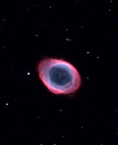 The planetary nebula M57 imaged at the Virtual Telescope