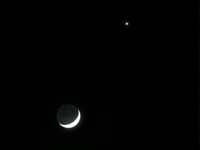 The Moon and Venus