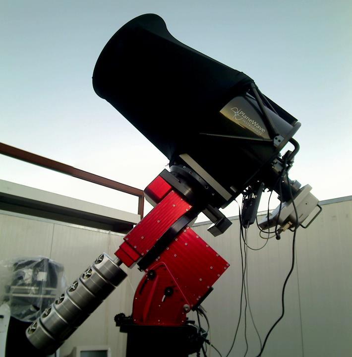 Lo strumento principale del Virtual Telescope installato su una robusta montatura equatoriale alla tedesca