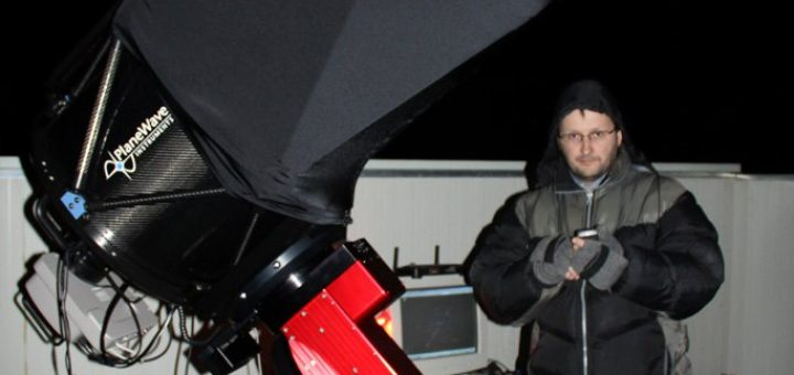 """The 17"""" unit with Gianluca Masi, the owner and scientific coordinator of the Virtual Telescope Project"""