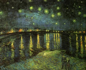 "Vincent van Gogh: ""Starry night over the Rhone"" (1888)"