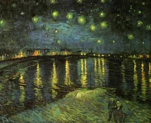 "Vincent van Gogh: ""Starry night over the Rhone"" (1888)"