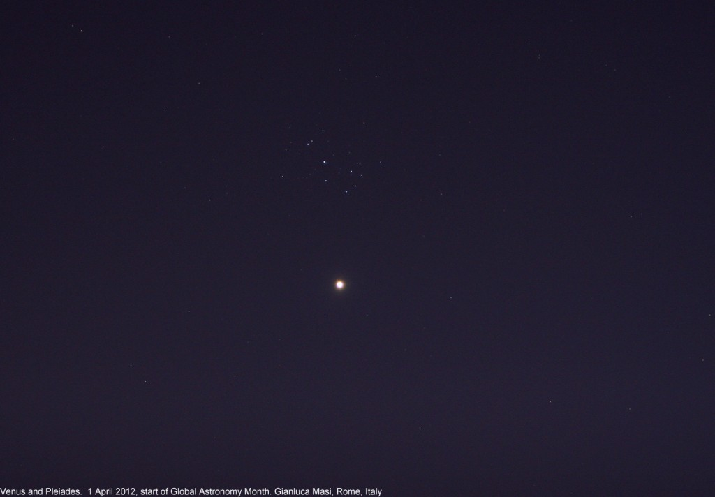 Venus is approaching the Pleiades