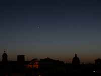 VVenus and Mercury above Rome