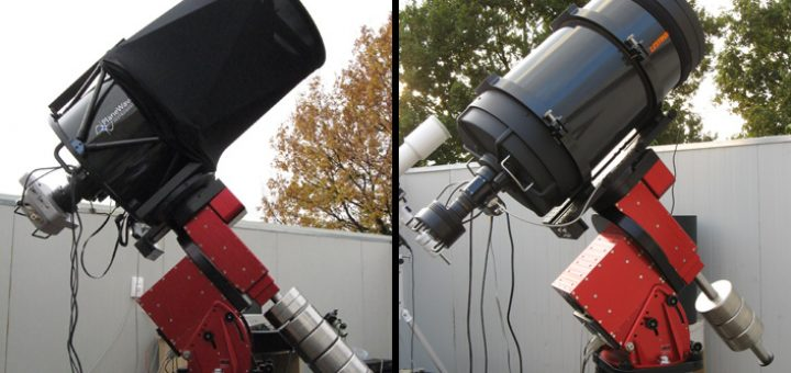 "The 17"" and 14"" units part of the Virtual Telescope"