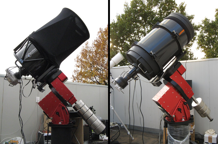 """The 17"""" and 14"""" units part of the Virtual Telescope"""