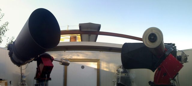 The C14 (left) and the PW17 (right) units now part of the robotic Virtual Telescope Project facility