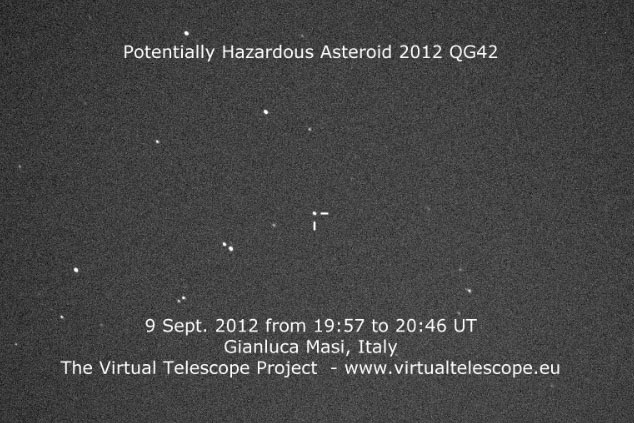 Asteroid 2012 QG42 (9 Sept. 2012)