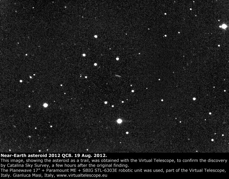 Near-Earth Asteroid 2012 QC8 (19 Aug. 2012)