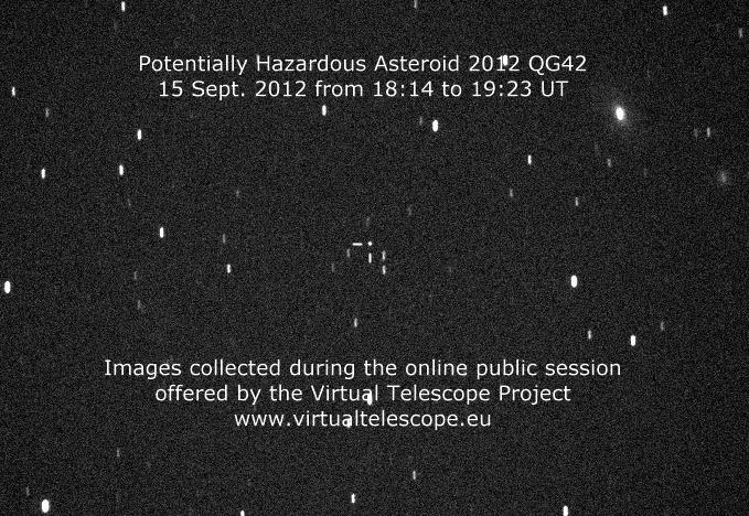Potentially Hazardous Asteroid 2012 QG42 (15 Sept. 2012)