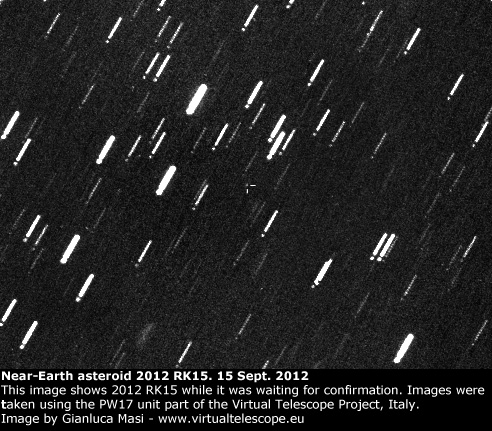 Near-Earth Asteroid 2012 RK15