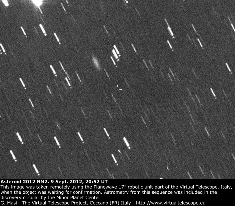 Asteroid 2012 RM2 (9 Sept. 2012)