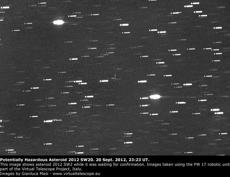 Potentially Hazardous Asteroid 2012 SW20 (20 Sept. 2012)
