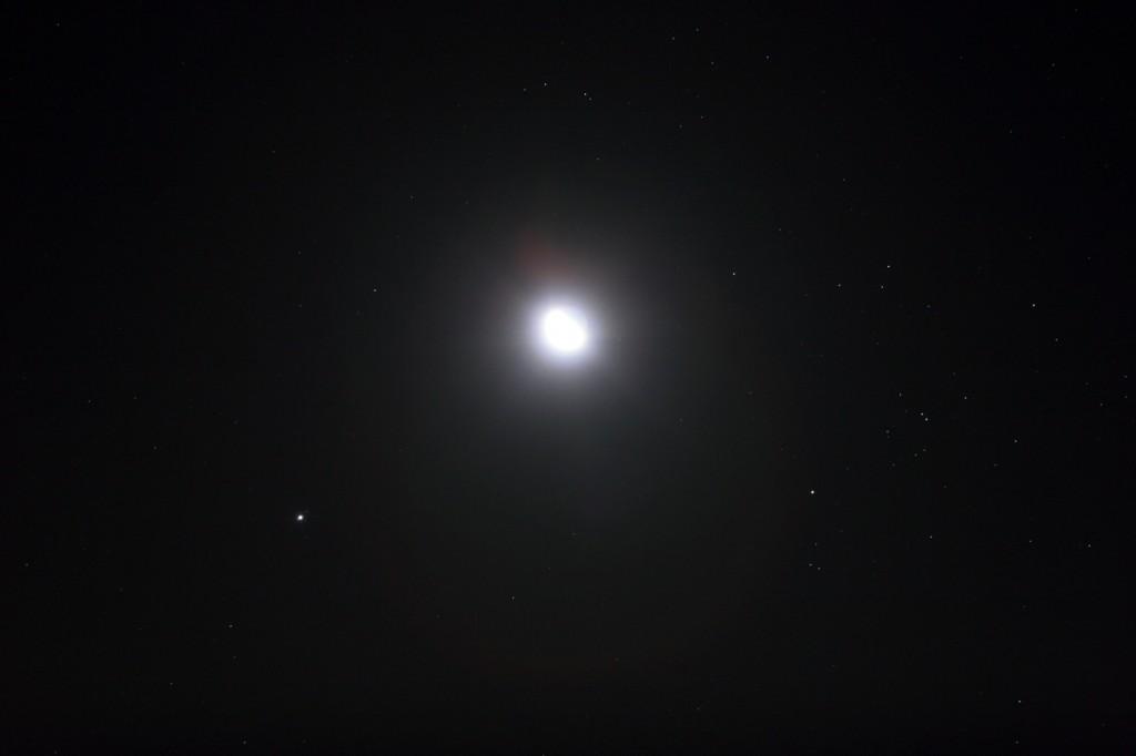 The Moon, Jupiter and Aldebaran: 8 Sept. 2012