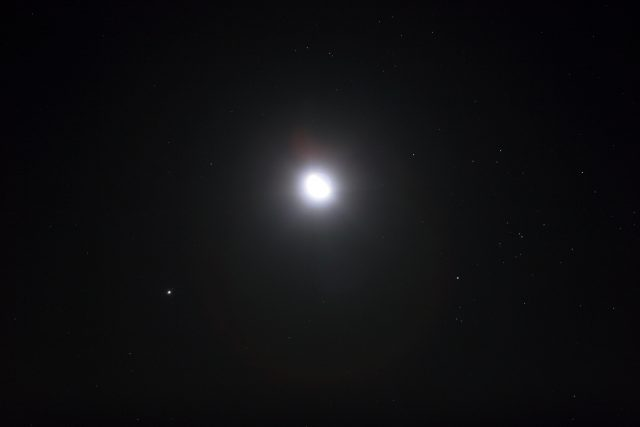 The Moon, Jupiter and Aldebaran: 8 Sept. 2012