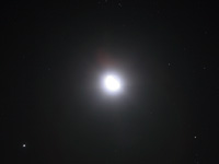 The Moon, Jupiter and Aldebaran