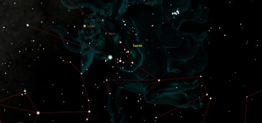 Moon, Jupiter and Taurus: 8 Sept. 2012, 02:30UT