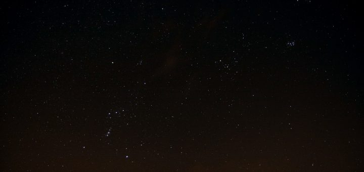 Orion, Taurus and the Pleiades