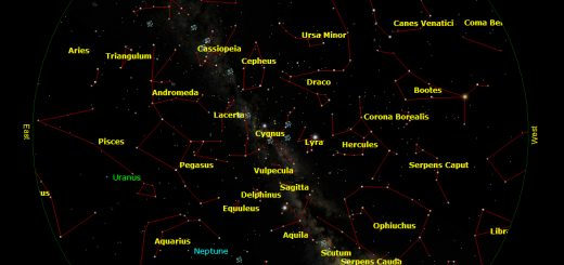 The sky on 15 Sept. 2012, 19:30UT, at lat +41 deg