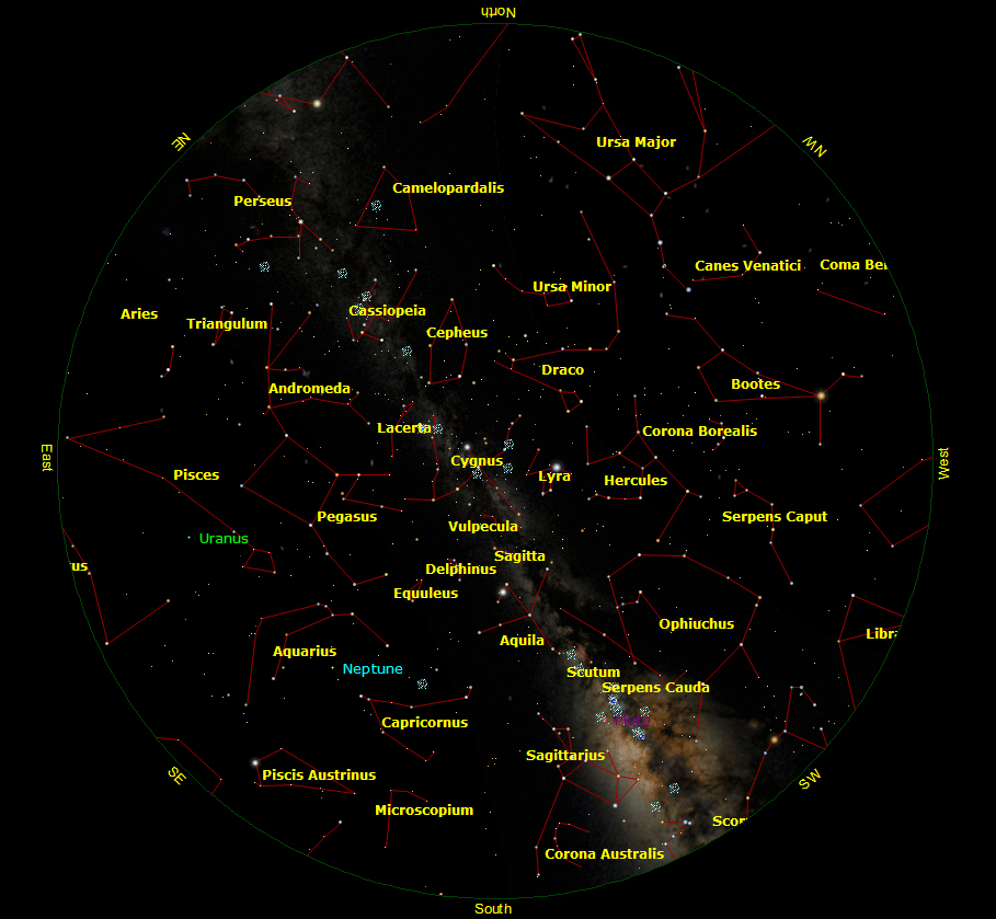The sky on 15 Sept. 2012, 19:30UT, at lat +41 deg