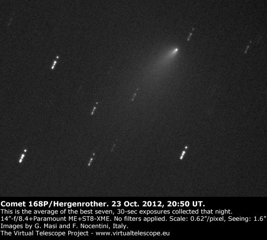 Comet 168P. 23 Oct. 2012, 20:50 UT