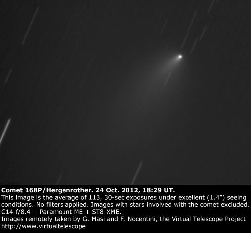 Comet 168P. 24 Oct. 2012, 18:29 UT