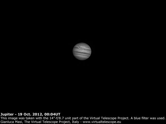 Jupiter: 19 Oct. 2012