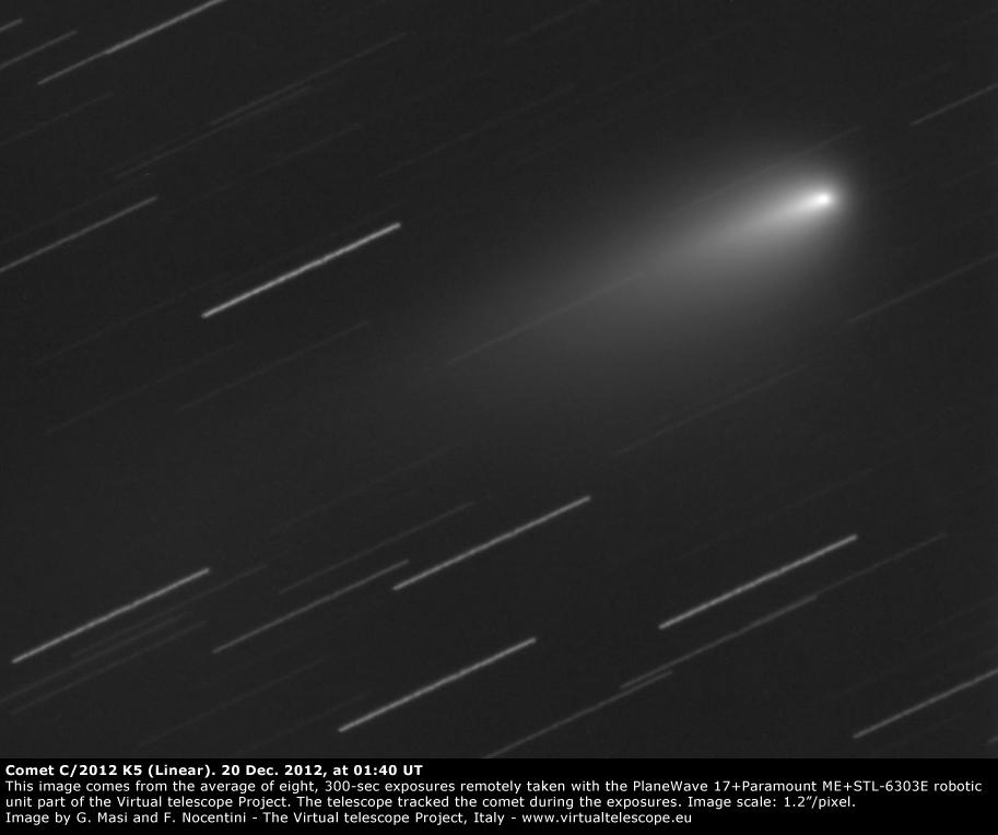 Comet C/2012 K5. 20 Dec. 2012, 01:40 UT
