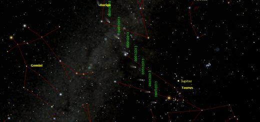 Comet C/2012 K5 (Linear): finding chart