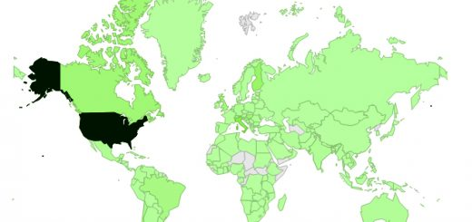 Geographical distribution of our visitors from 1 Sept. to 31 Dec. 2012