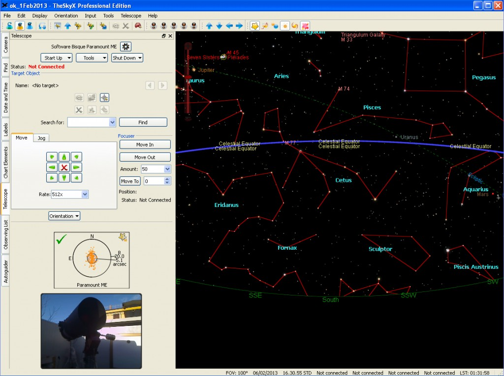 The Graphical User Interface of the Virtual Telescope units
