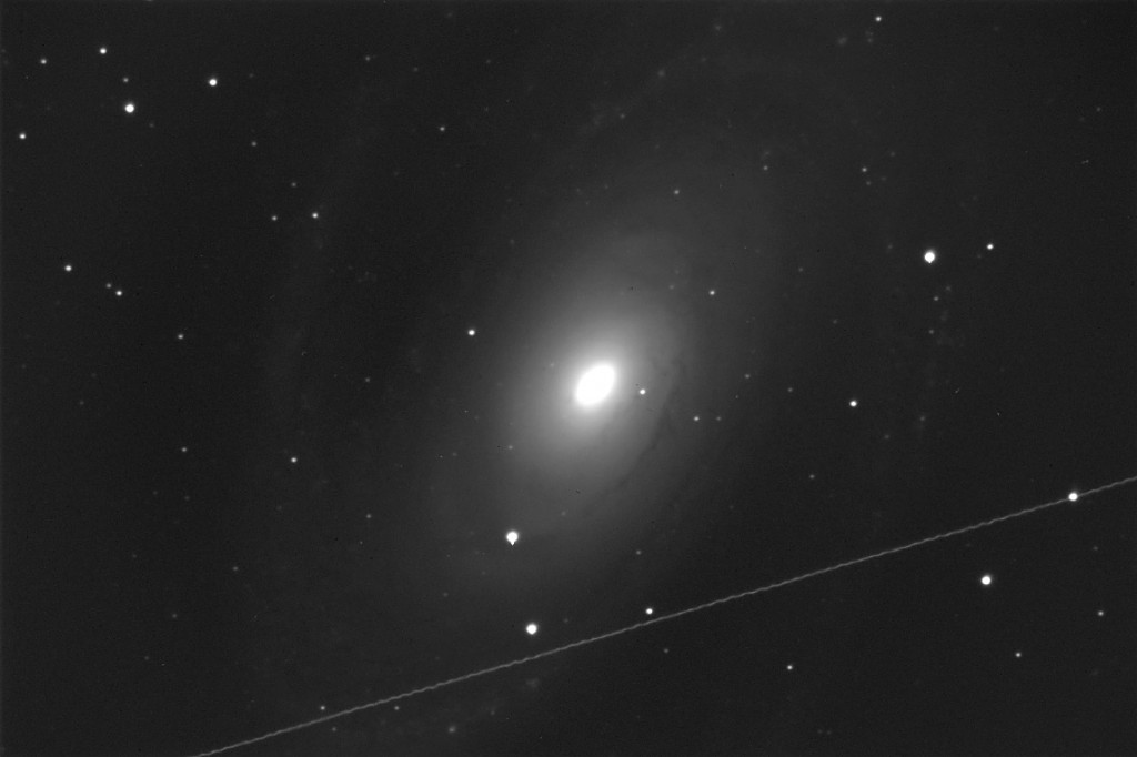Messier 81. 600 seconds of exposure, unguided, with the C14 unit