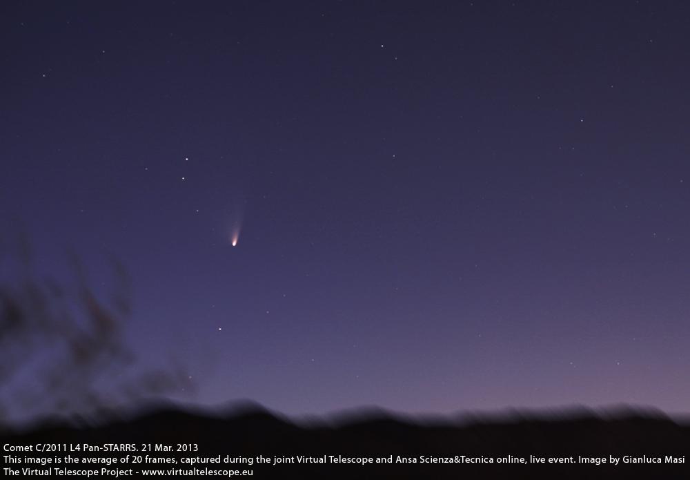 Comet Pan-STARRS imaged on 21 Mar. 2013