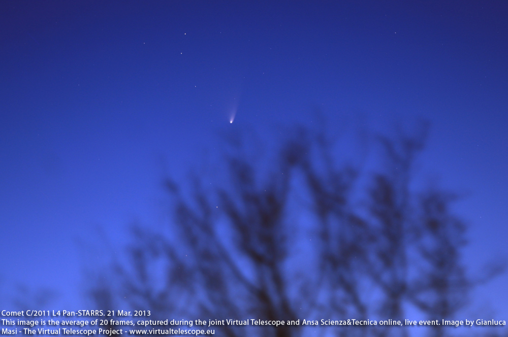 Comet Pan-STARRS imaged on 21 Mar. 2013