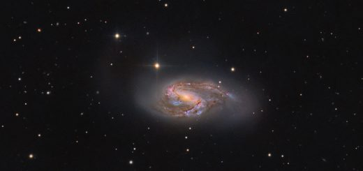 Messier 66, a color view
